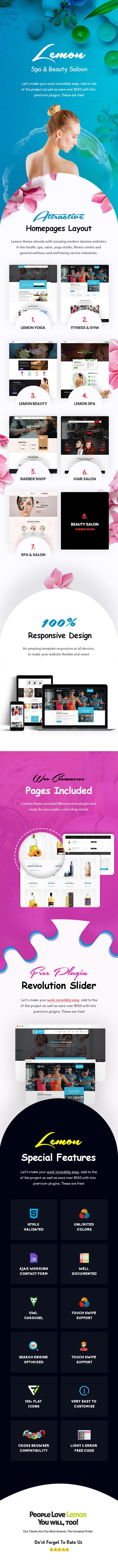 Lemon | Spa & Beauty Responsive Multi-Purpose WordPress Theme - 1