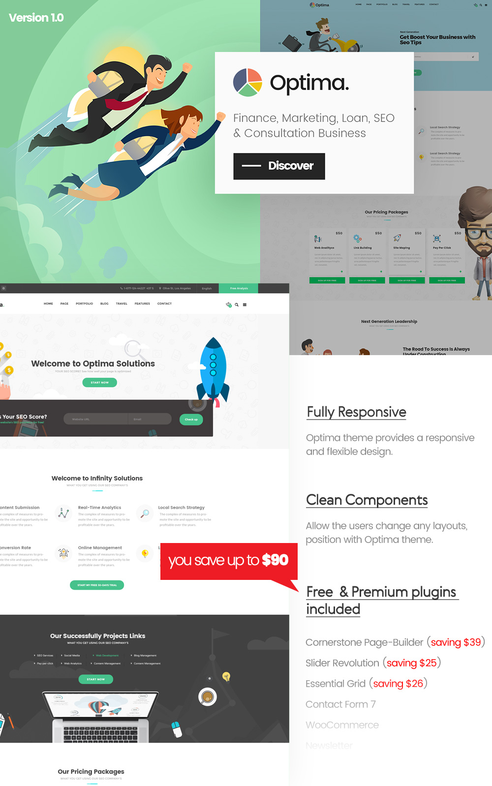 Optima - Multiple Solutions For Business WordPress Theme - 1